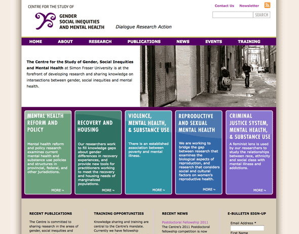 Centre for the Study of Gender, Social Inequities and Mental Health website