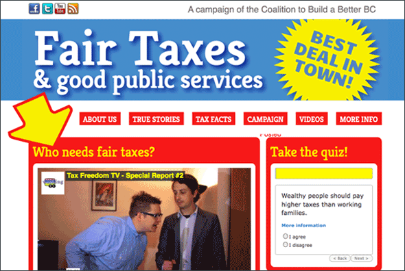 Coalition to Build a Better BC Fair Taxes