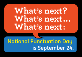 National Punctuation Day poster by Working Design