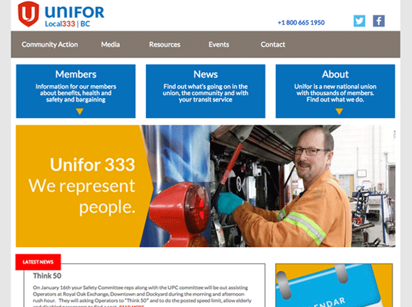 unifor 333 website
